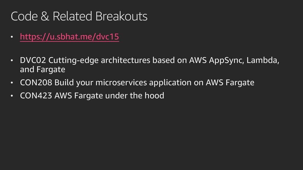 Code & Related Breakouts • https://u.sbhat.me/d...