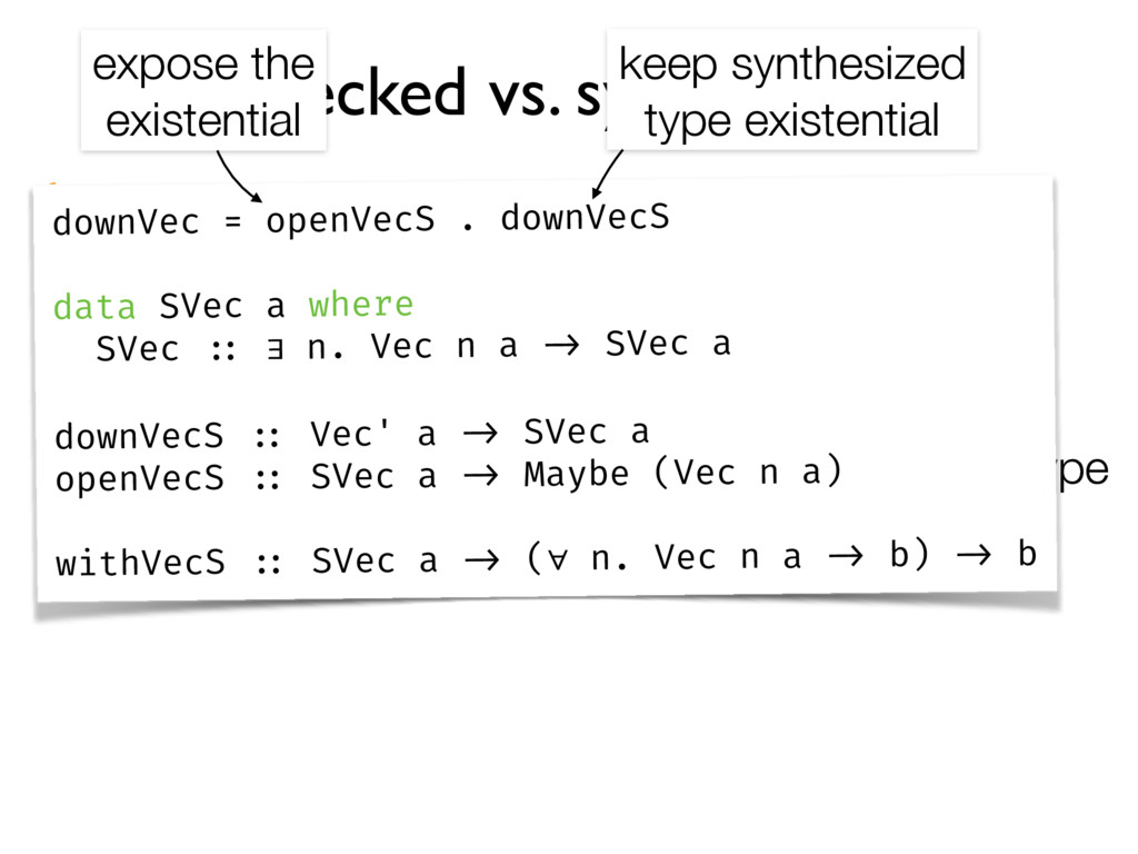 checked vs. synthesised output: determined by s...