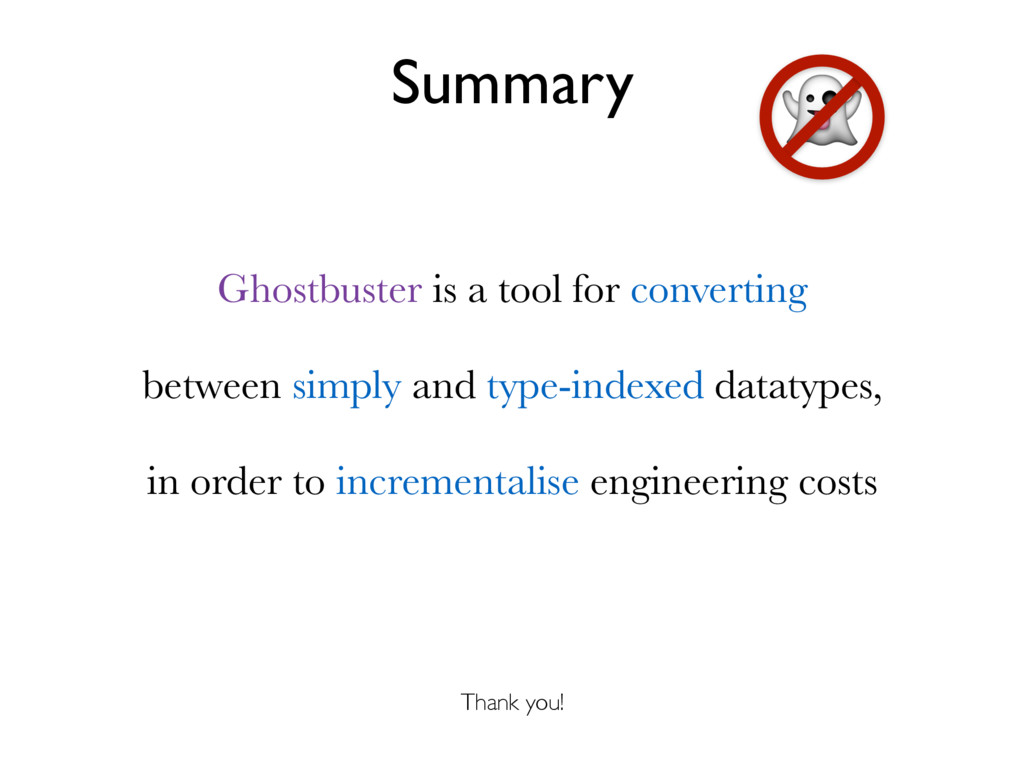 Summary Ghostbuster is a tool for converting be...