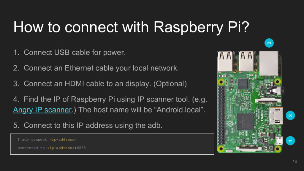 How to connect with Raspberry Pi? 1. Connect US...