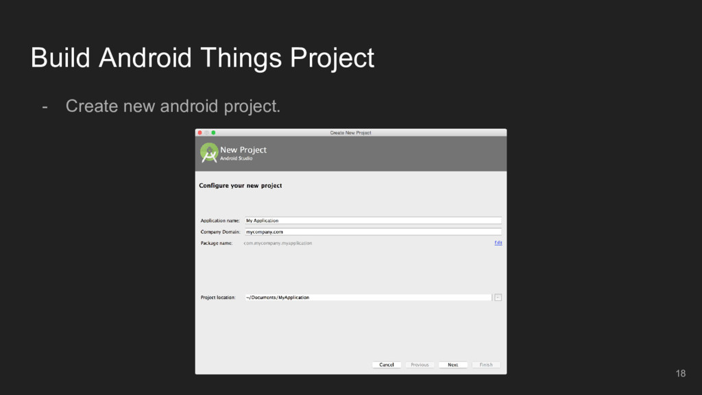 Build Android Things Project - Create new andro...