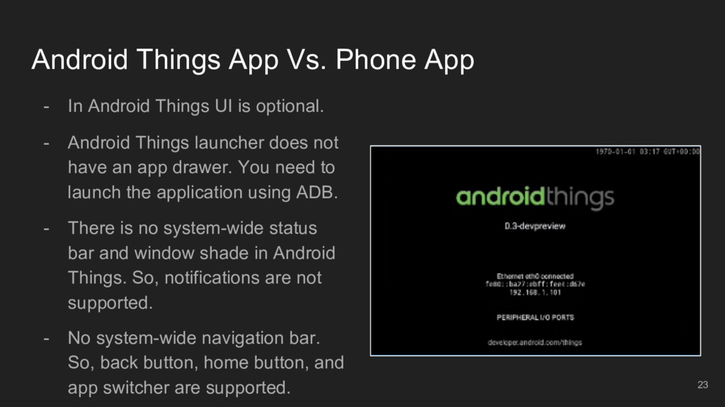 Android Things App Vs. Phone App - In Android T...