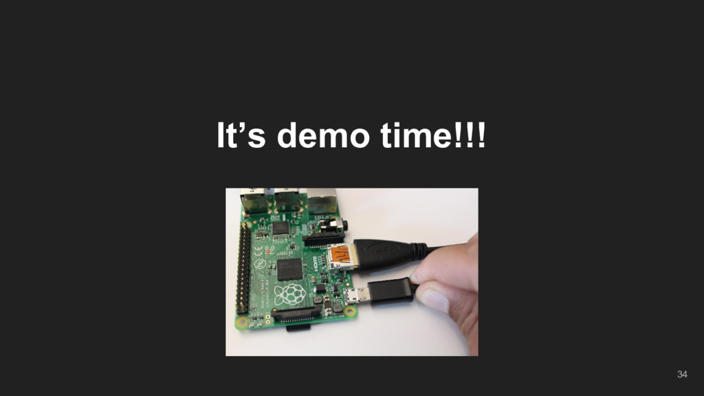 It's demo time!!! 34