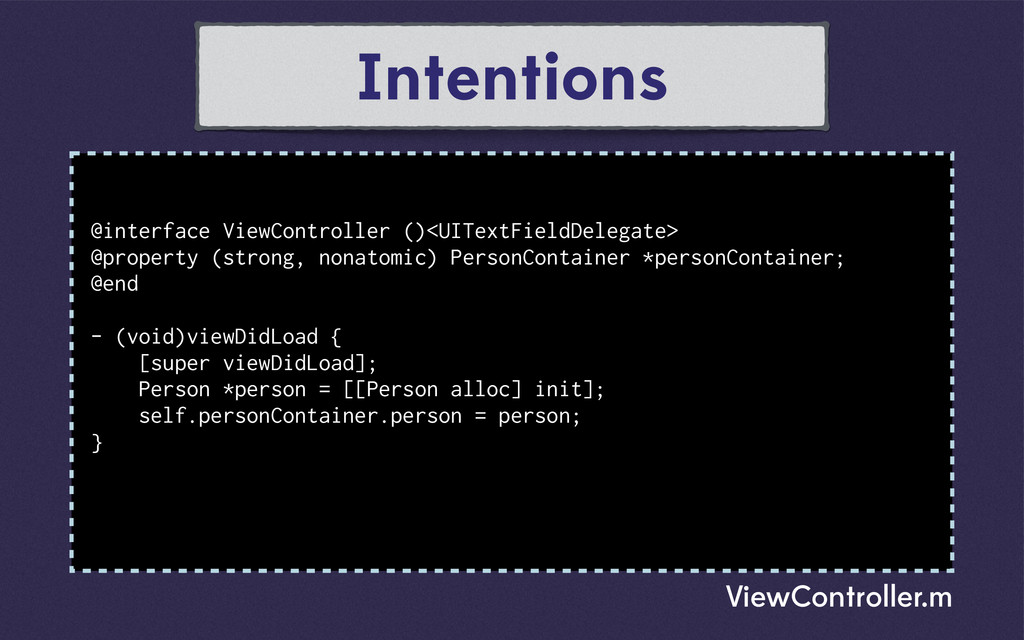Intentions @interface ViewController ()<UITextF...