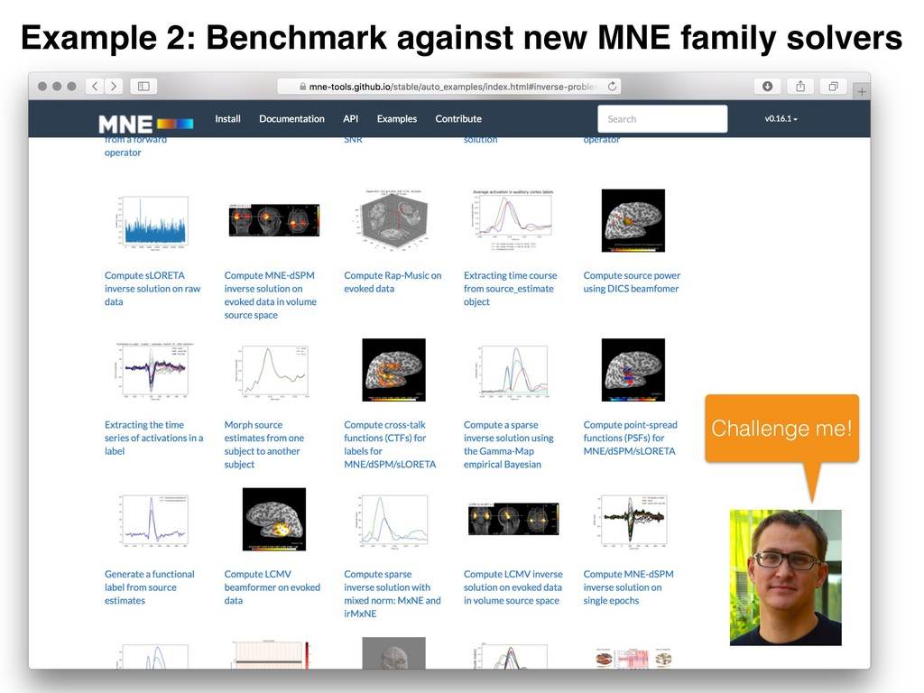 Example 2: Benchmark against new MNE family sol...