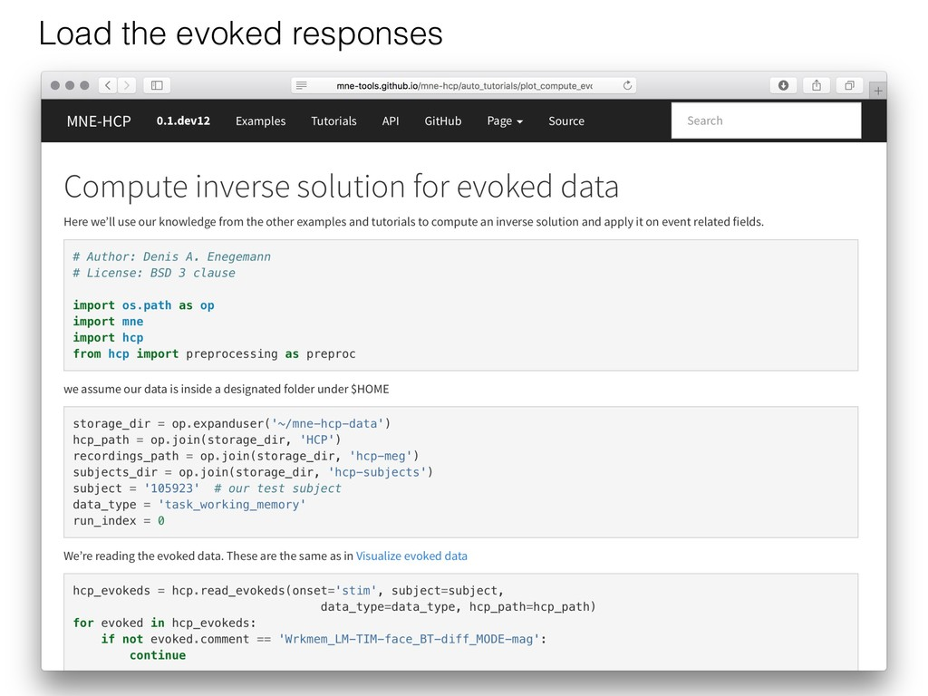 Add your example! Load the evoked responses