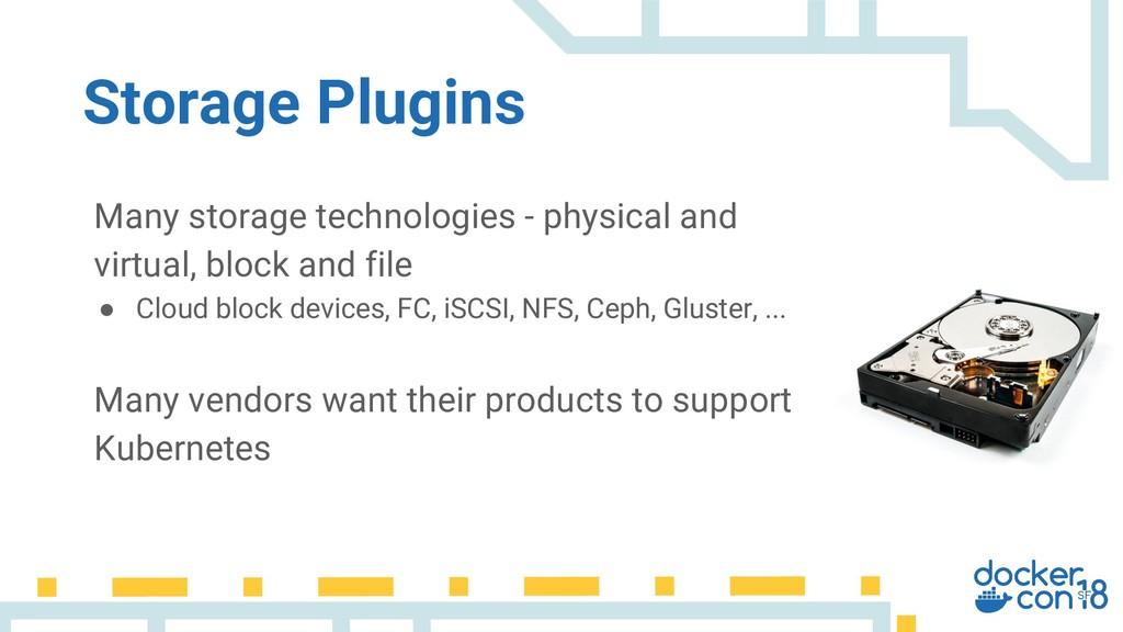 Many storage technologies - physical and virtua...