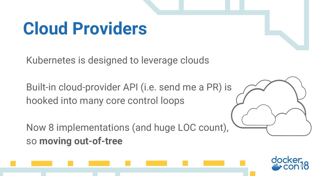 Kubernetes is designed to leverage clouds Built...