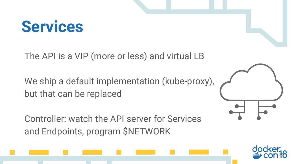 The API is a VIP (more or less) and virtual LB ...