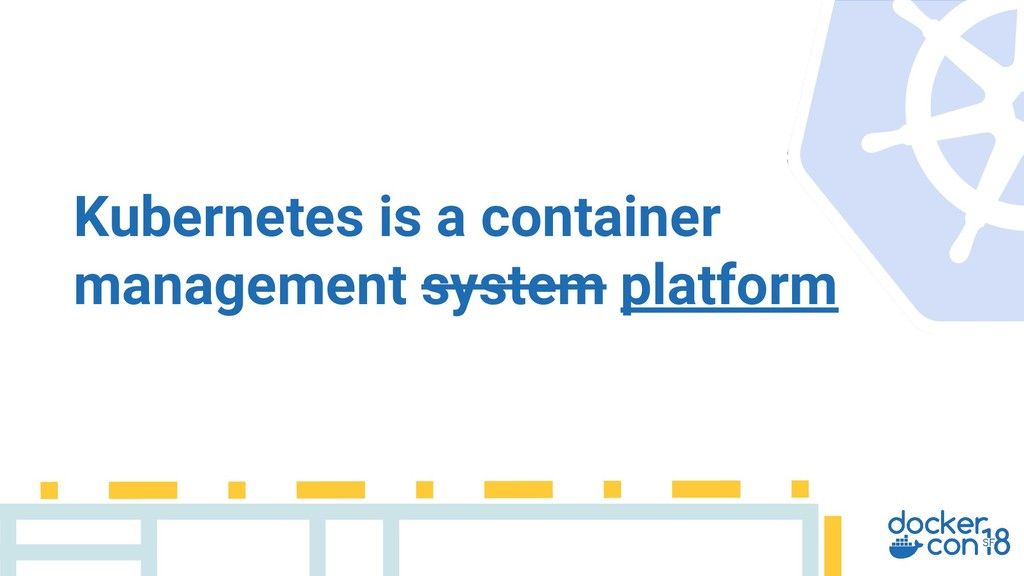 Kubernetes is a container management system pla...
