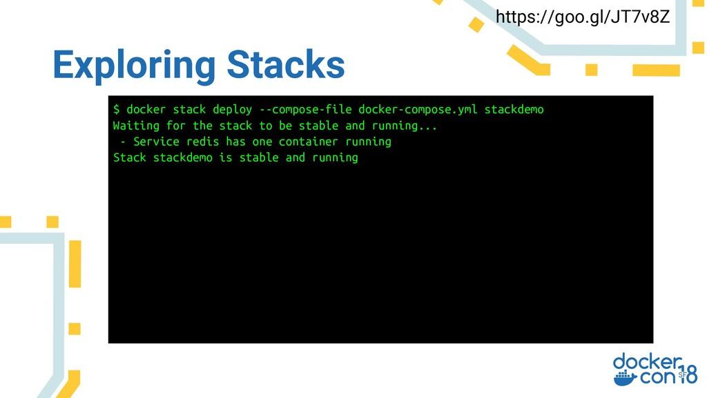 Exploring Stacks https://goo.gl/JT7v8Z $ docker...