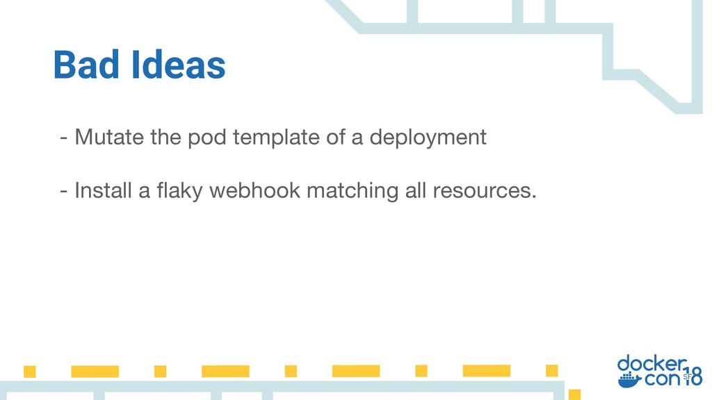 - Mutate the pod template of a deployment - Ins...