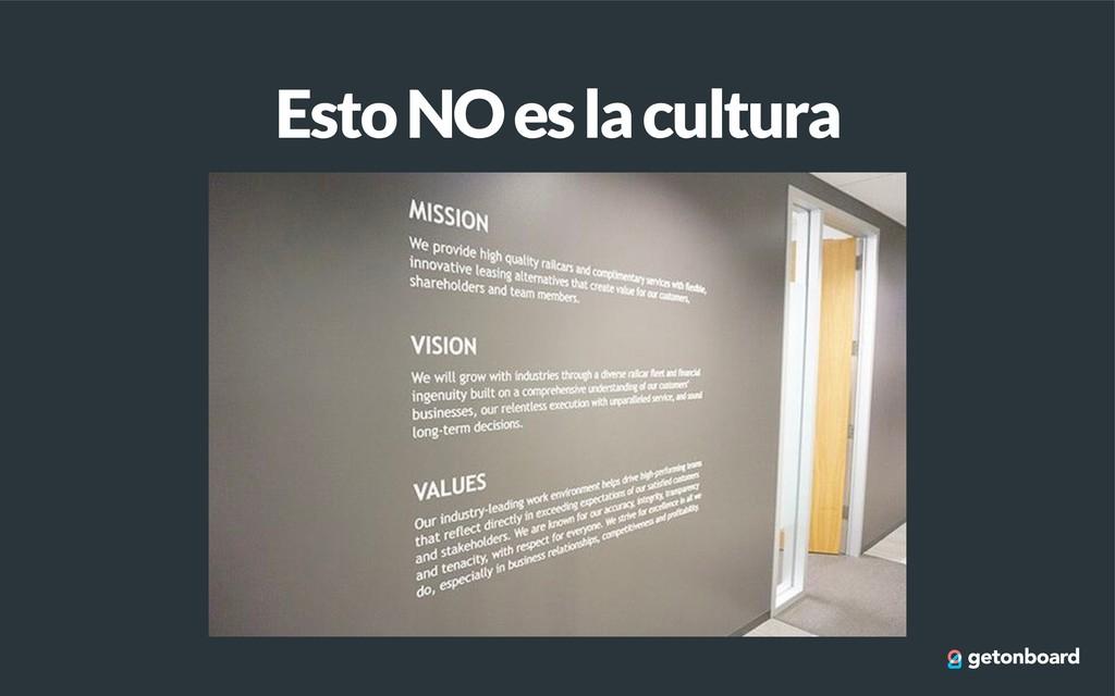 Esto NO es la cultura