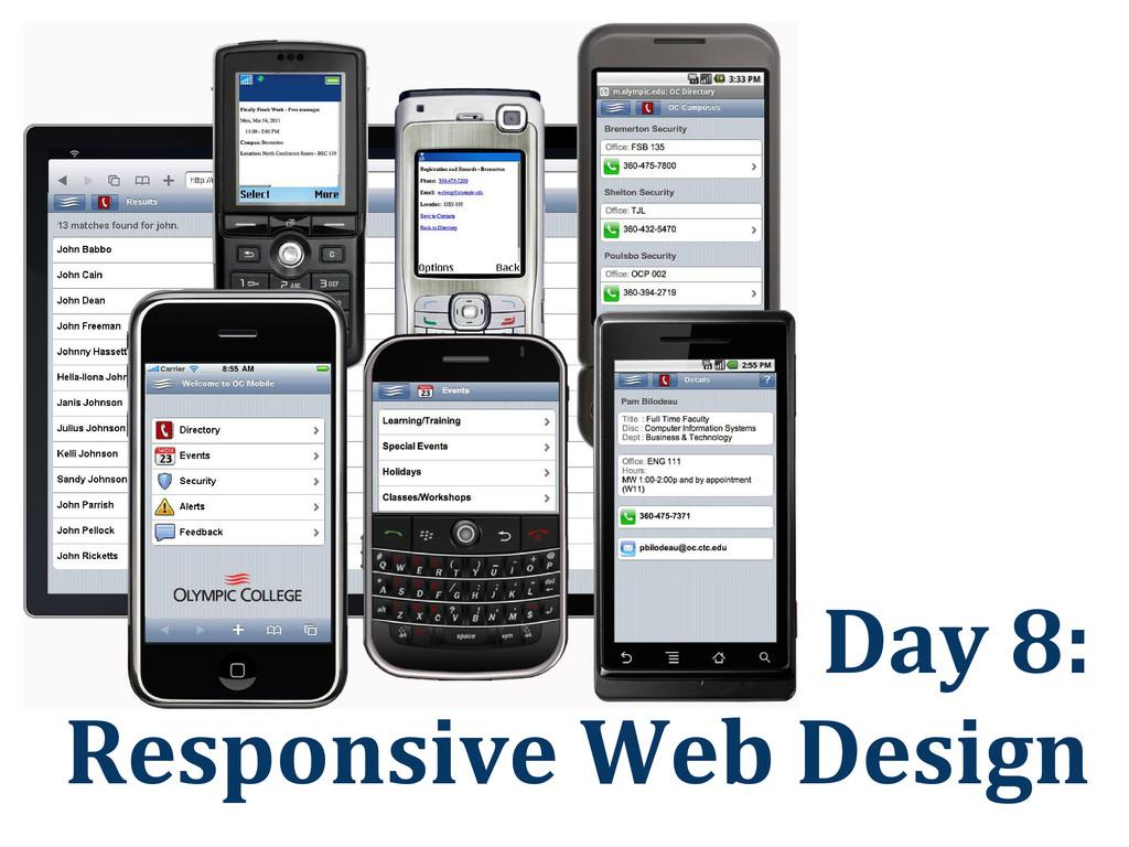 Day 8: Responsive Web Design