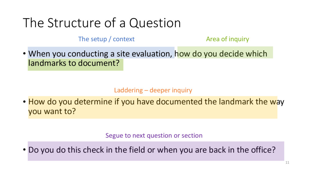 The Structure of a Question • When you conducti...