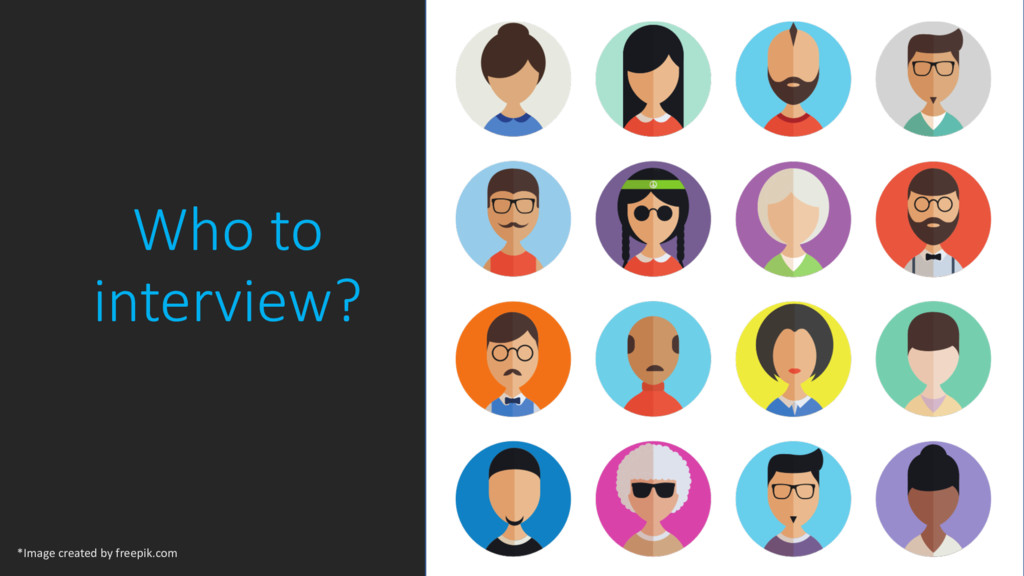 Who to interview? 12 *Image created by freepik....