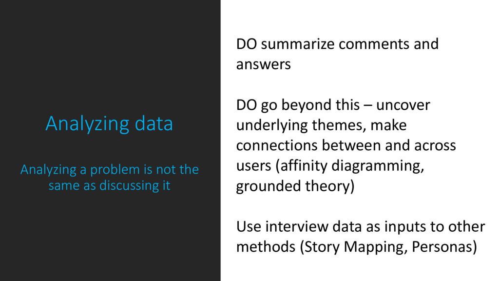 Analyzing data  Analyzing a problem is not th...