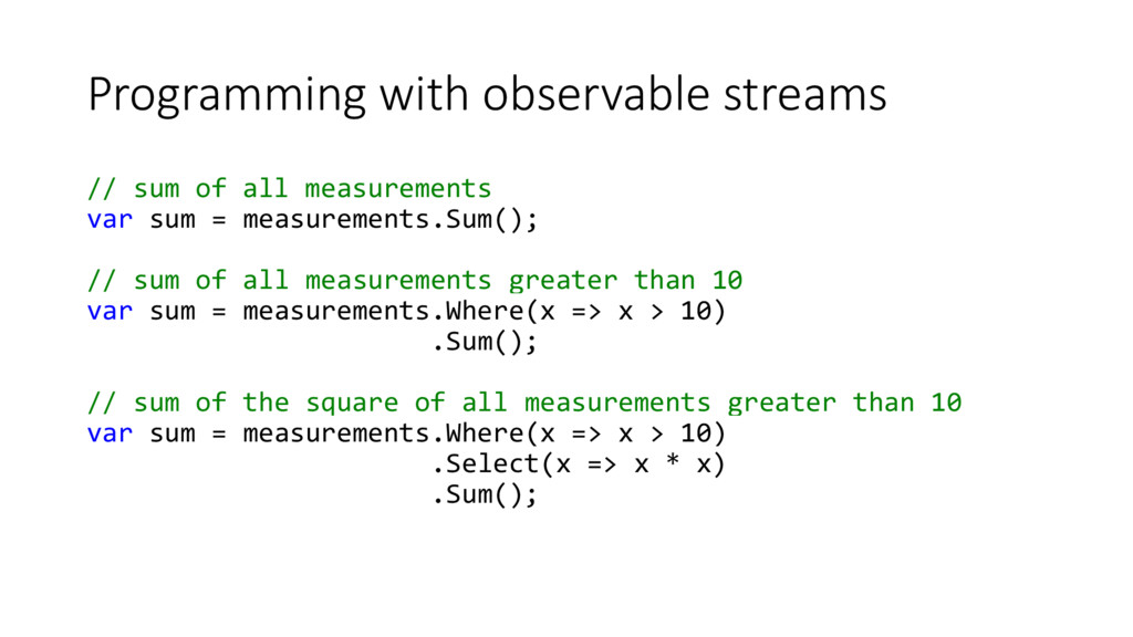Programming with observable streams // sum of a...