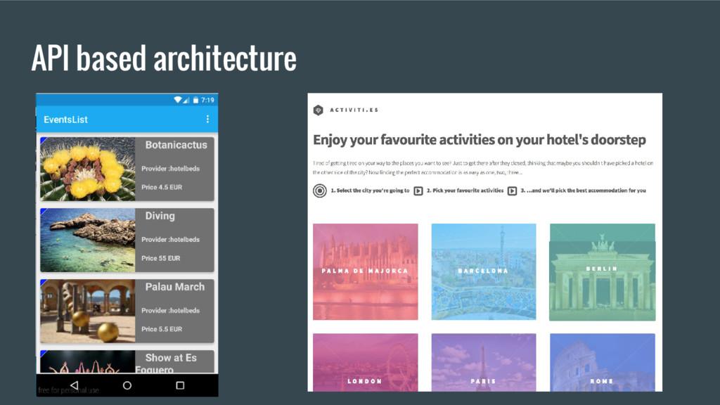 API based architecture