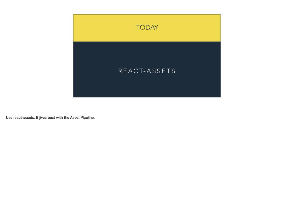 TODAY R E A C T- A S S E T S Use react-assets. ...