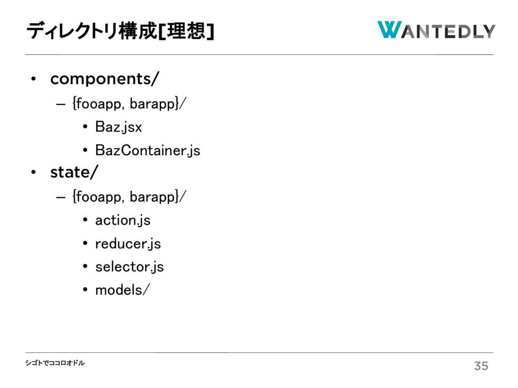 シゴトでココロオドル • components/ – {fooapp, barapp}/ • ...