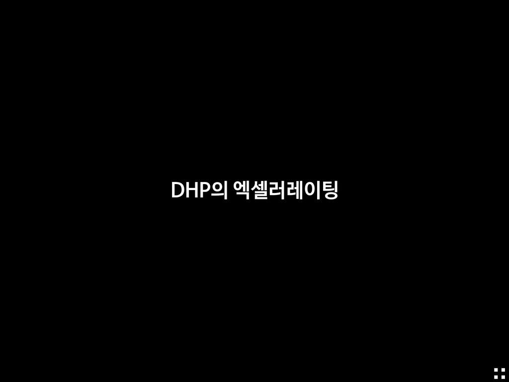 DHP의 엑셀러레이팅