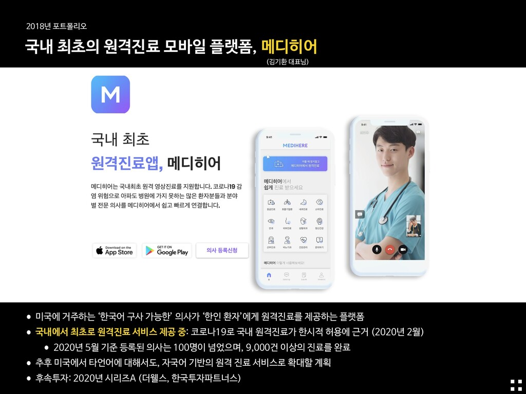 •미국에 거주하는 '한국어 구사 가능한' 의사가 '한인 환자'에게 원격진료를 제공하는...