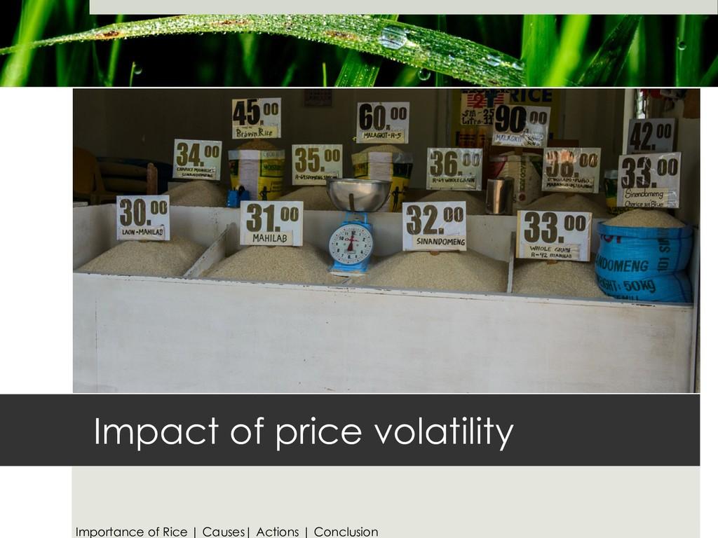 Impact of price volatility Importance of Rice |...