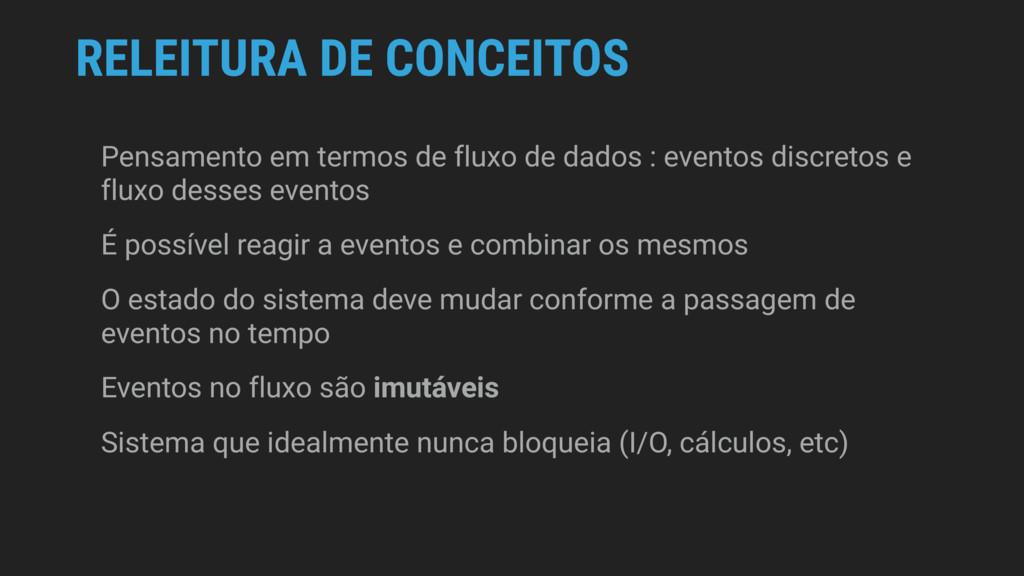 RELEITURA DE CONCEITOS Pensamento em termos de ...