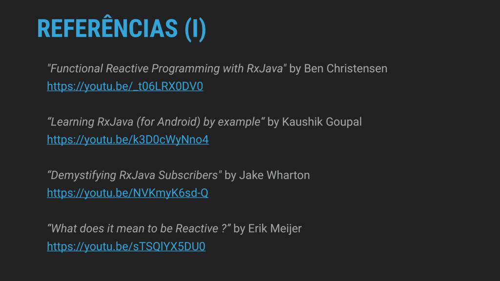 "REFERÊNCIAS (I) ""Functional Reactive Programmin..."