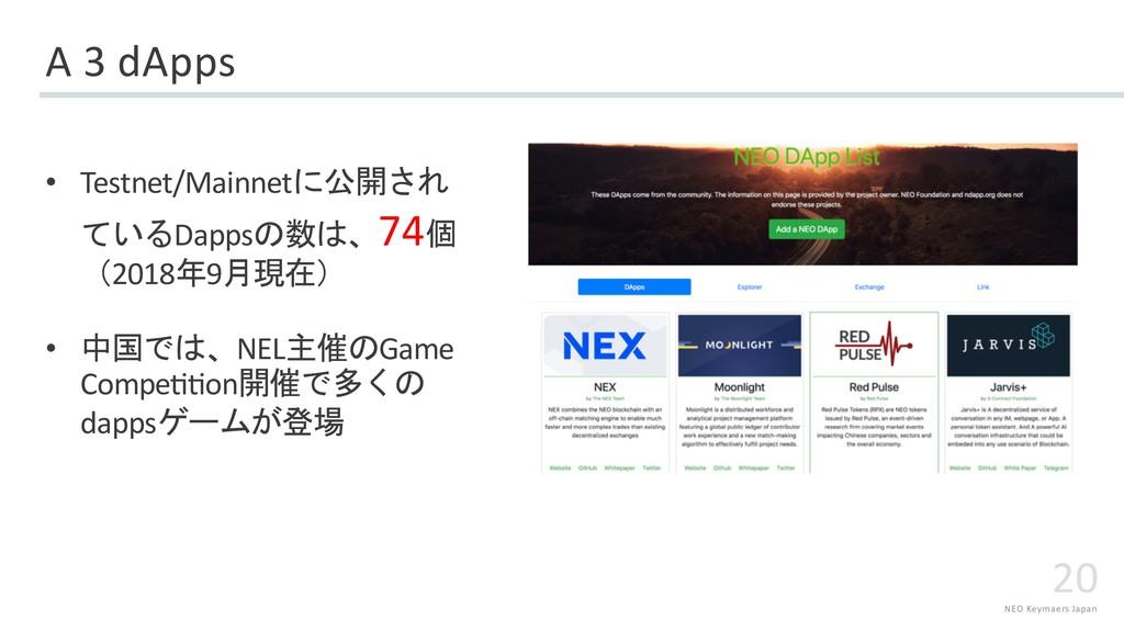 NEO Keymaers Japan 20 A 3 dApps • Testnet/Mainn...