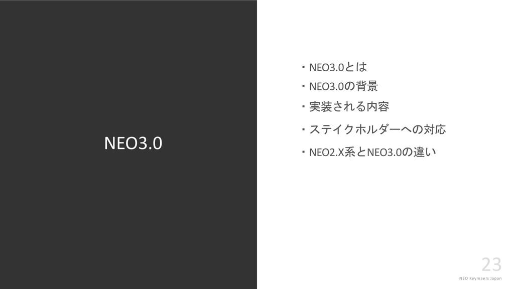 NEO Keymaers Japan 23 NEO3.0 NEO3.0 ...