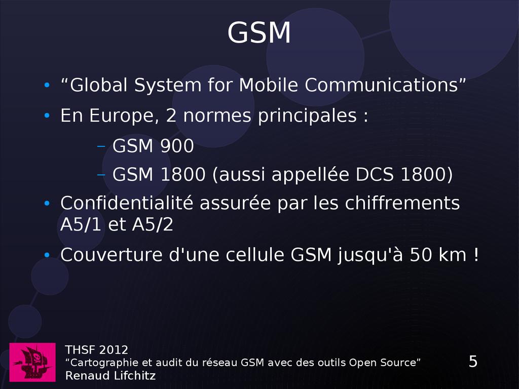 """THSF 2012 """"Cartographie et audit du réseau GSM ..."""