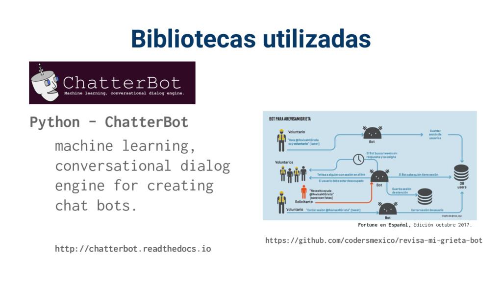 Bibliotecas utilizadas https://github.com/coder...
