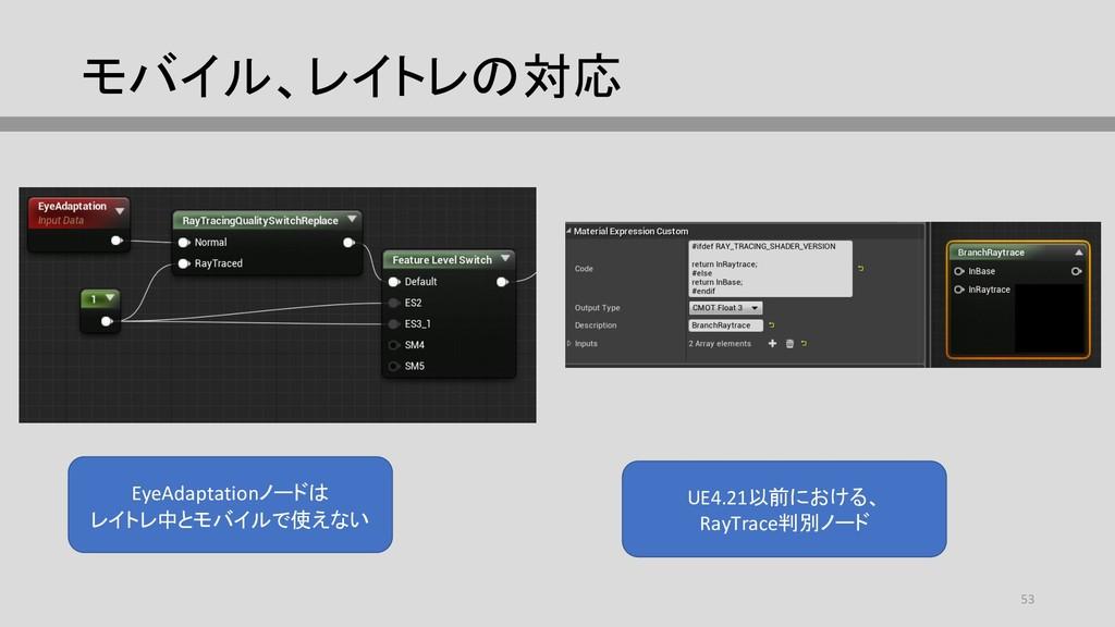 モバイル、レイトレの対応 EyeAdaptationノードは レイトレ中とモバイルで使えない ...