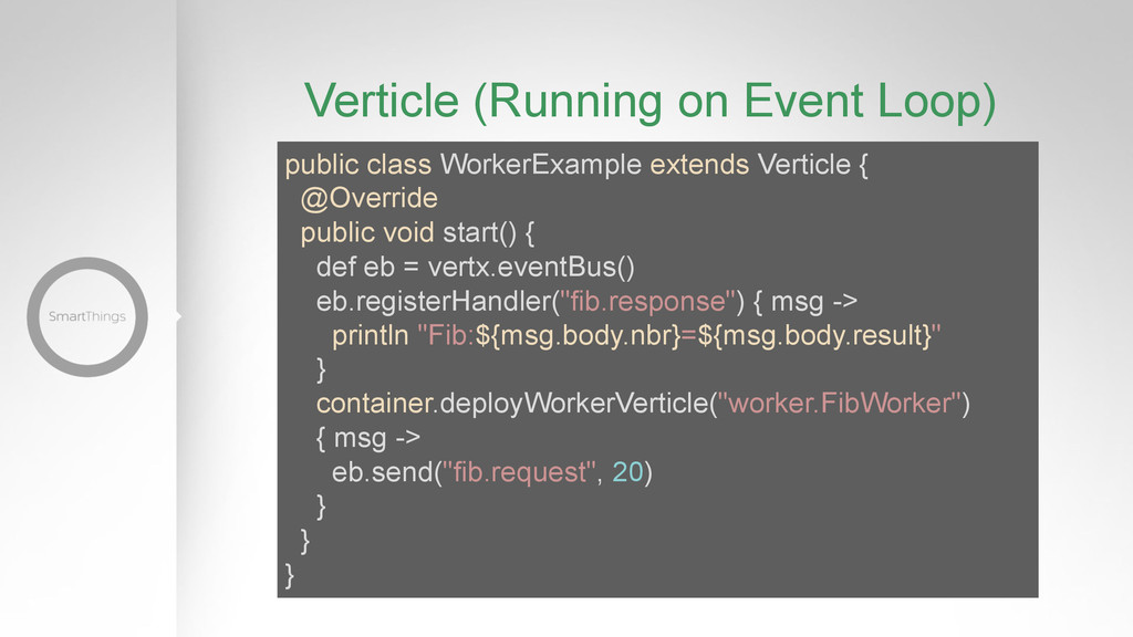 Verticle (Running on Event Loop) public class W...