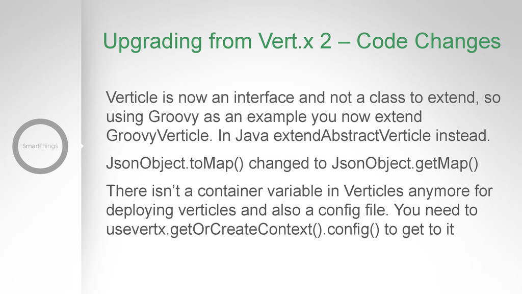 Upgrading from Vert.x 2 – Code Changes Verticle...