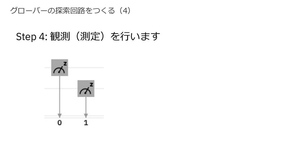 グローバーの探索回路をつくる(4) Step 4: 観測(測定)を⾏います