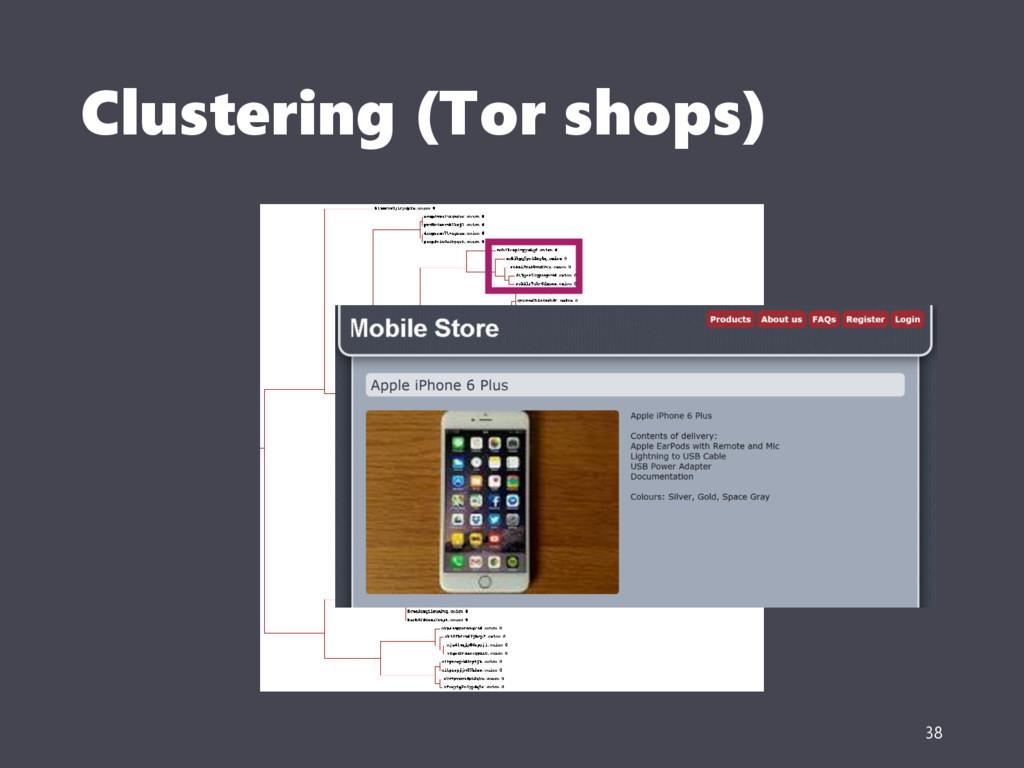 Clustering (Tor shops) 38