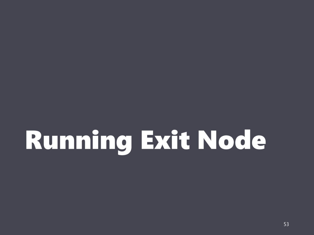 Running Exit Node 53