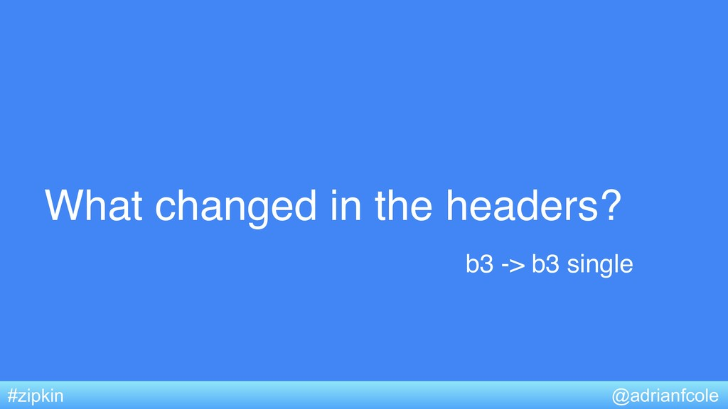 What changed in the headers? @adrianfcole #zipk...