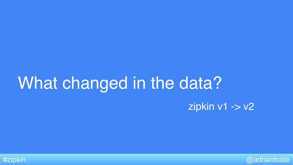 What changed in the data? @adrianfcole #zipkin ...