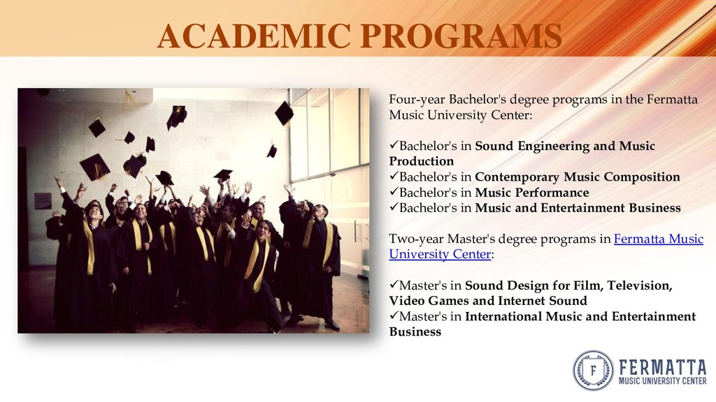 ACADEMIC PROGRAMS Four-year Bachelor's degree p...