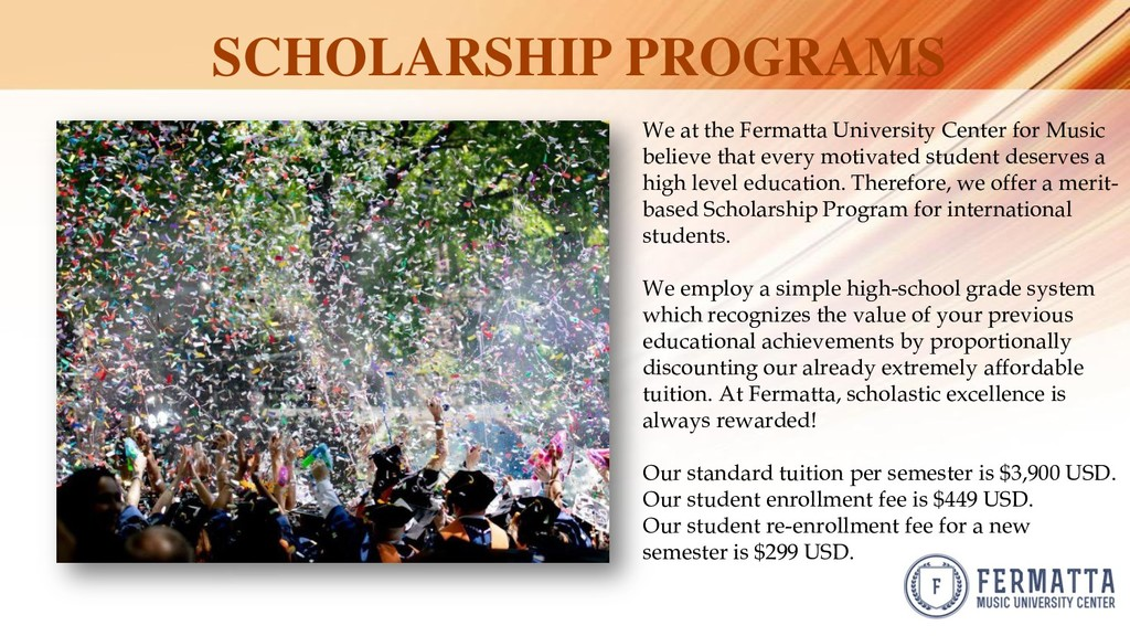 SCHOLARSHIP PROGRAMS We at the Fermatta Univers...