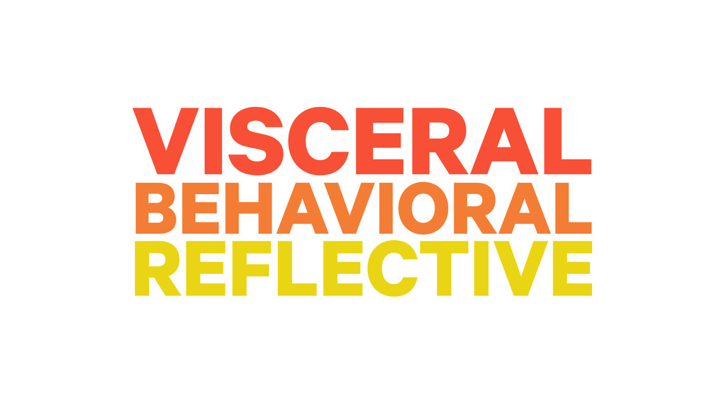 VISCERAL BEHAVIORAL REFLECTIVE