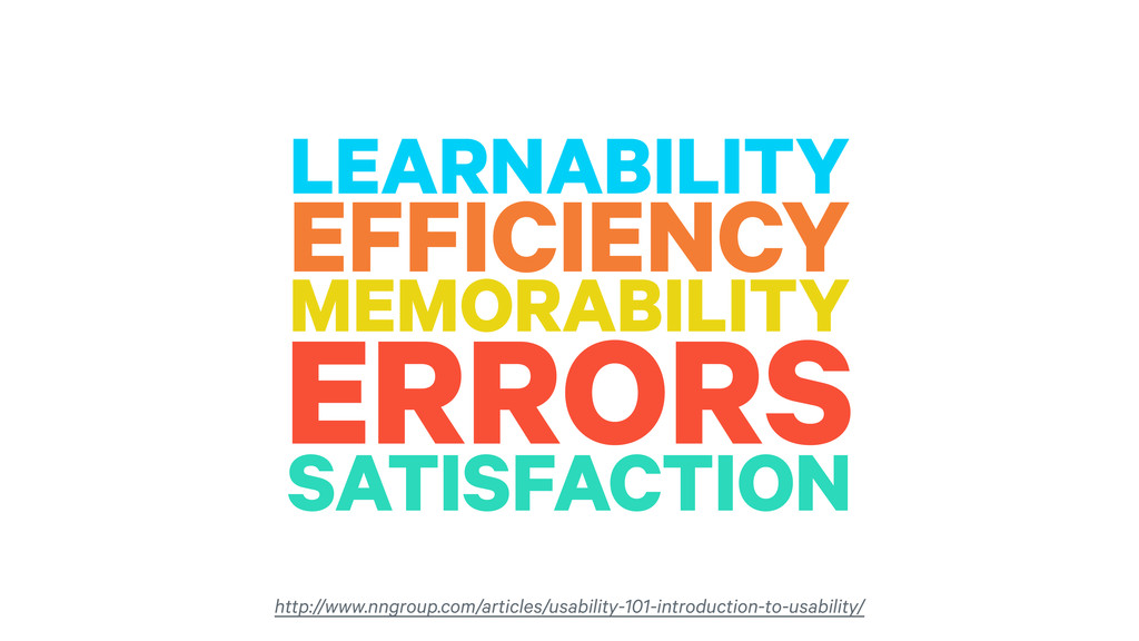 LEARNABILITY EFFICIENCY MEMORABILITY ERRORS SAT...