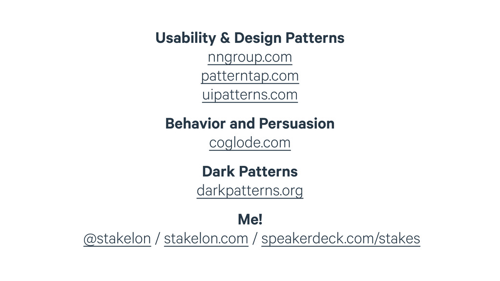 Usability & Design Patterns nngroup.com pattern...