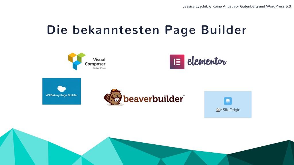 Die bekanntesten Page Builder Jessica Lyschik /...