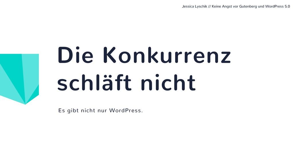 Es gibt nicht nur WordPress. Die Konkurrenz sch...