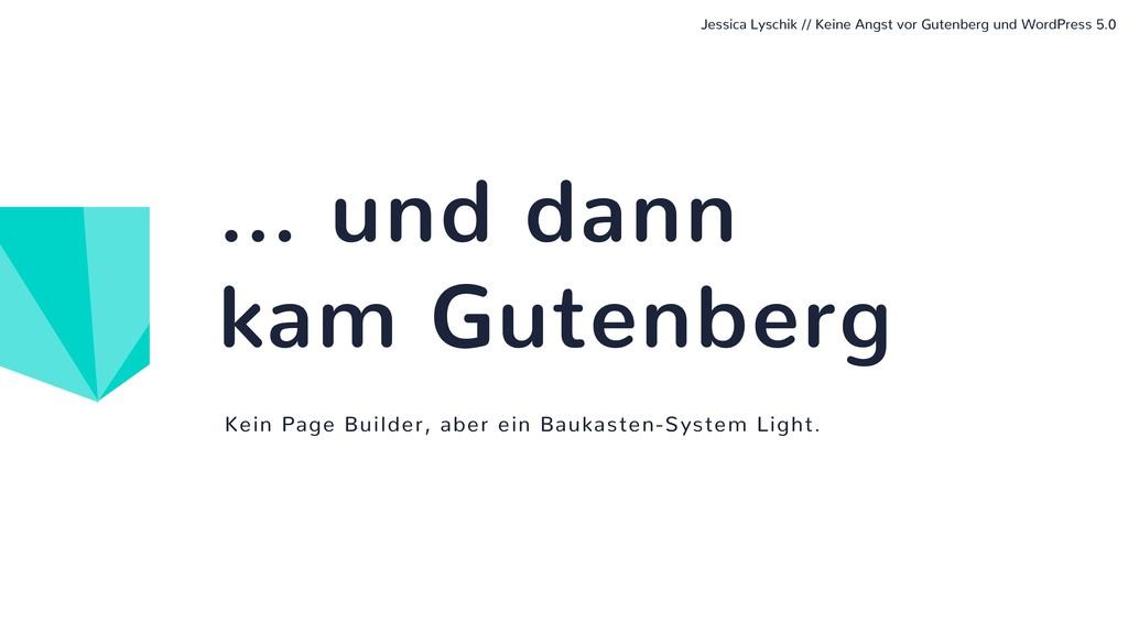 Kein Page Builder, aber ein Baukasten-System Li...